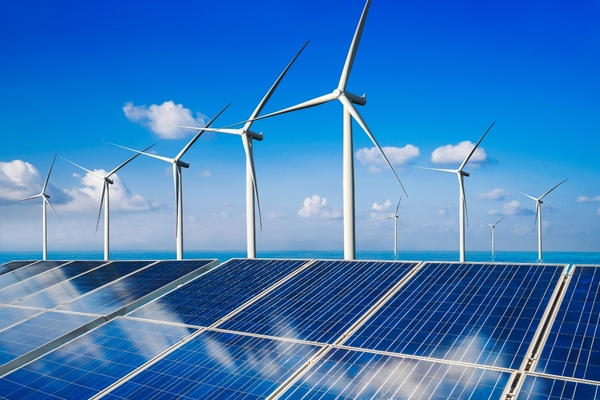 Wind and solar energy can be harnessed for use as electricity thanks to breakthroughs in Chemistry and Physics