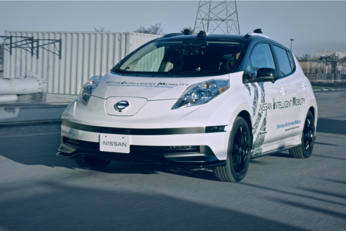 Nissan's Seamless Autonomous Mobility or 'SAM' being demonstrated