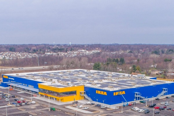 IKEA completes 1.21MW rooftop solar array in Columbus