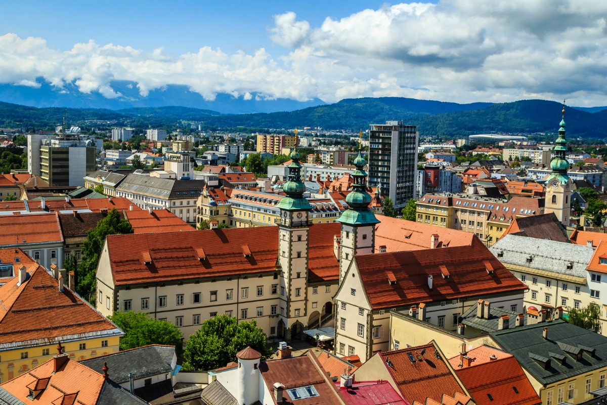 The Carinthian capital of Klagenfurt: the region has been installed with 300,000 smart meters