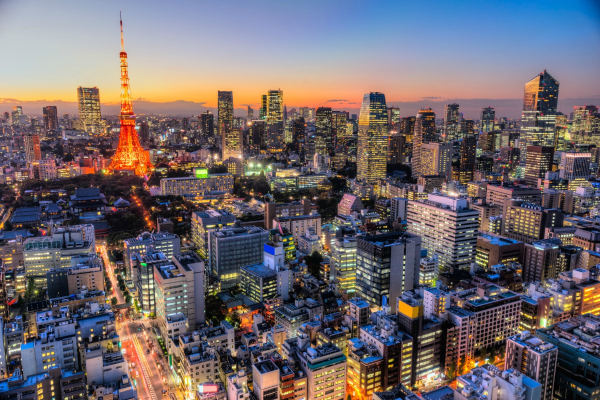 The two companies want to bring smart buildings to Japan (above) and Korea