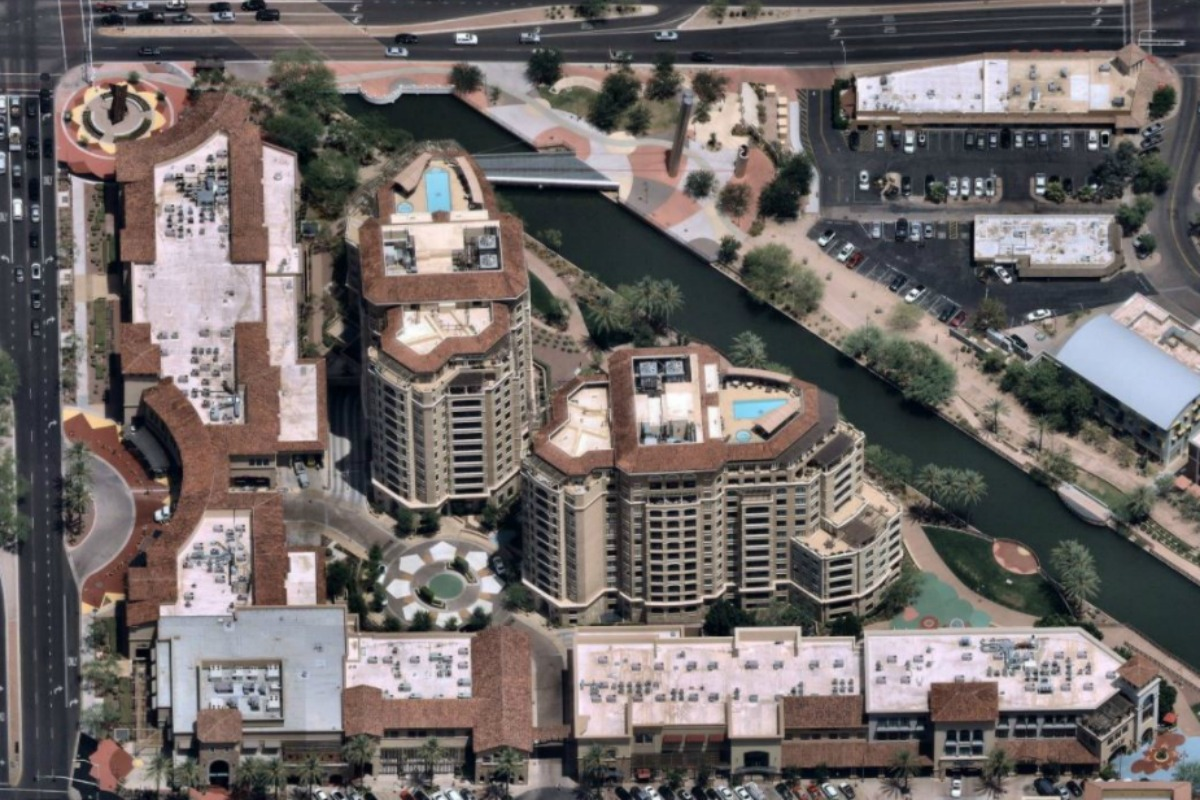 Sample imagery from the Austin 3-D fly-through using Nearmap technology