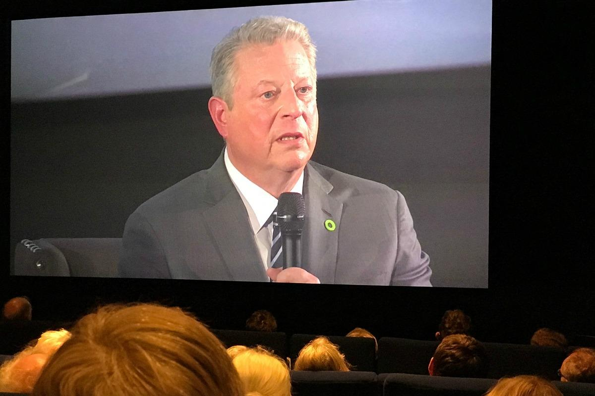 Al Gore in full Q&A flow at the launch of his new documentary sequel Truth to Power