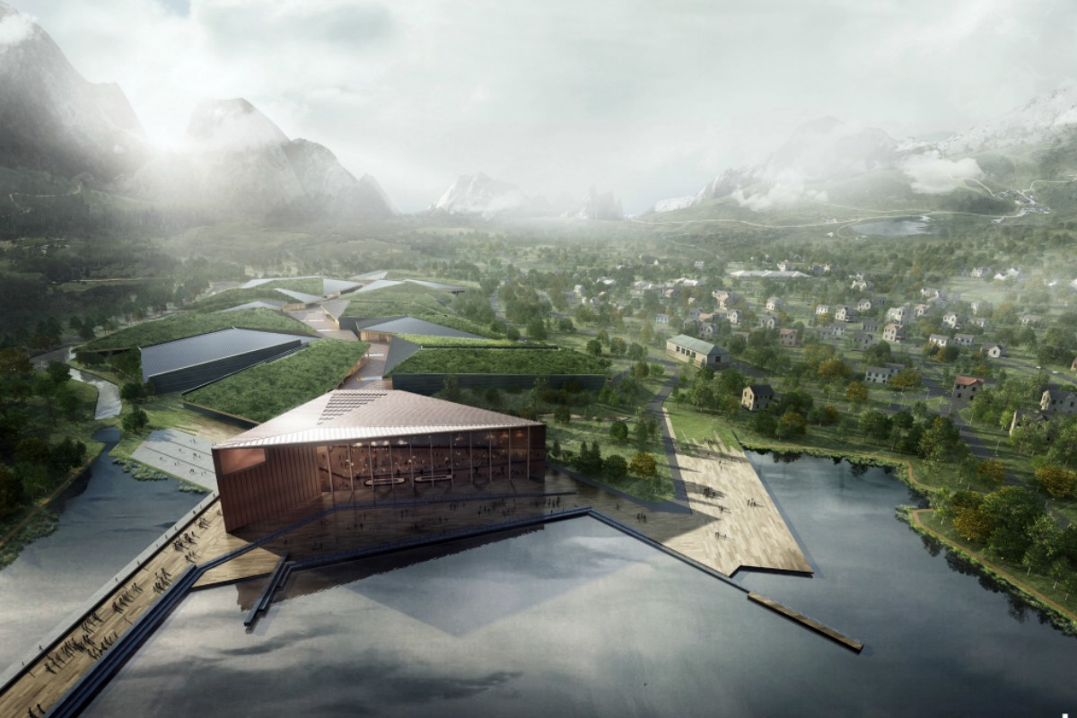 Artist's impression of the proposed Kolos data centre in Norway