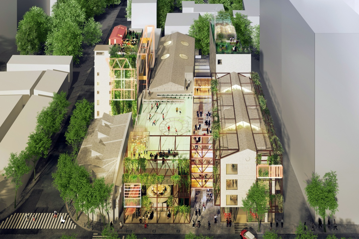 Preliminary plans for MINI LIVING's co-living project in Shanghai's Jing'An district