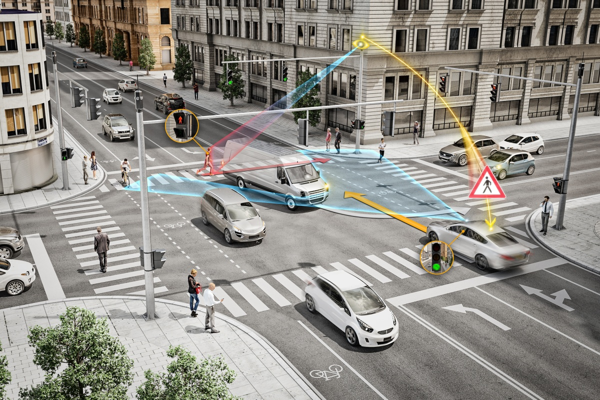 How Continental's V2X comms and sensor technology will work at an intersection