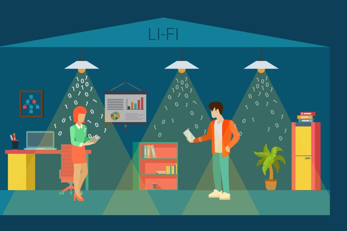 LiFi can be used in places where radio frequencies may interfere with equipment