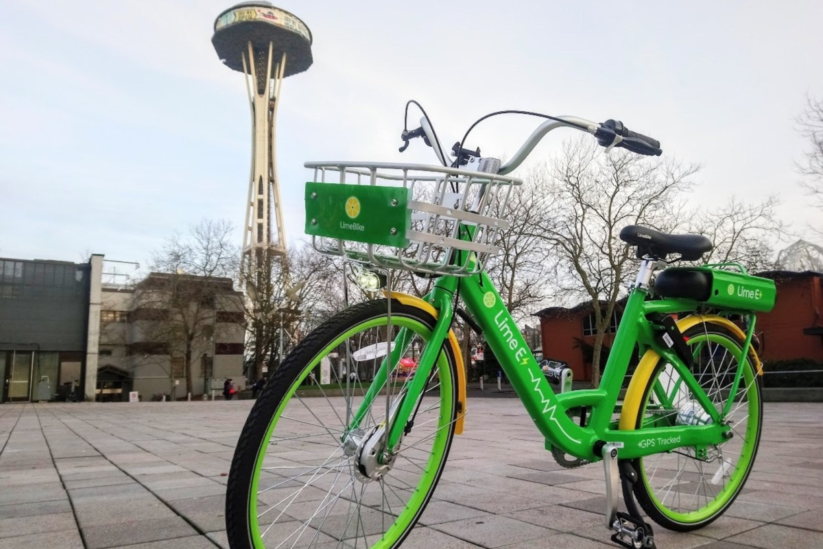 The Lime-E which can easily climb Seattle's 30 degree hills, says LimeBike