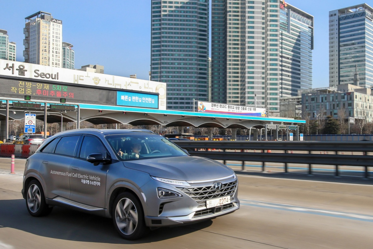 The vehicles are based on Hyundai's next-generation fuel cell electric SUV NEXO