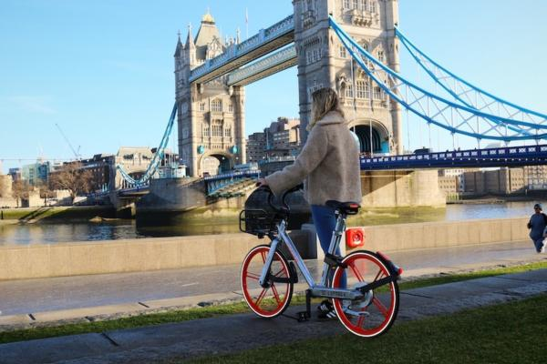 Mobike extends London bikeshare