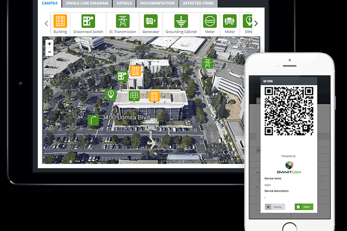 SmartCSM software allows facility managers to access building data when they need it