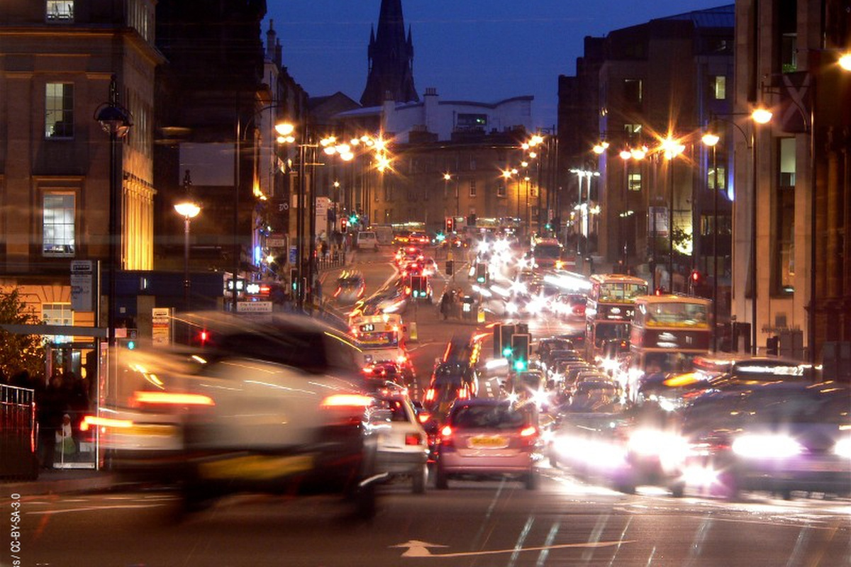 The smart streetlights are part of Edinburgh's energy-efficiency programme