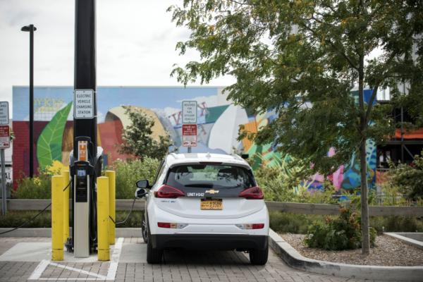 Turning light poles into electric chargers