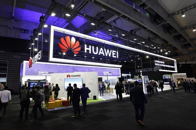 Huawei's booth at SCEWC18 where digital platform is being showcased