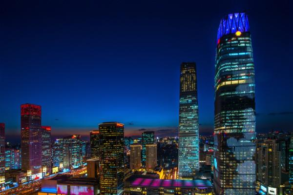 Invisible LEDs light up Beijing landmark