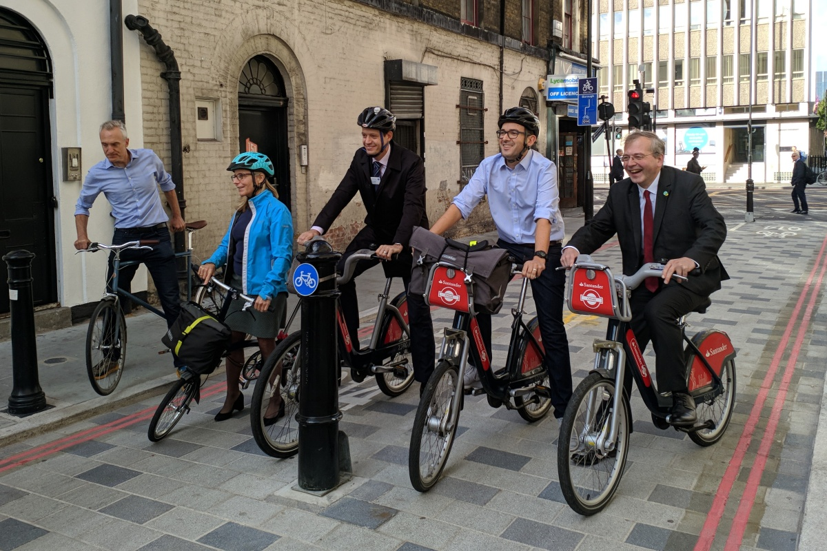 The Southwark Quietway cycle route is declared opened