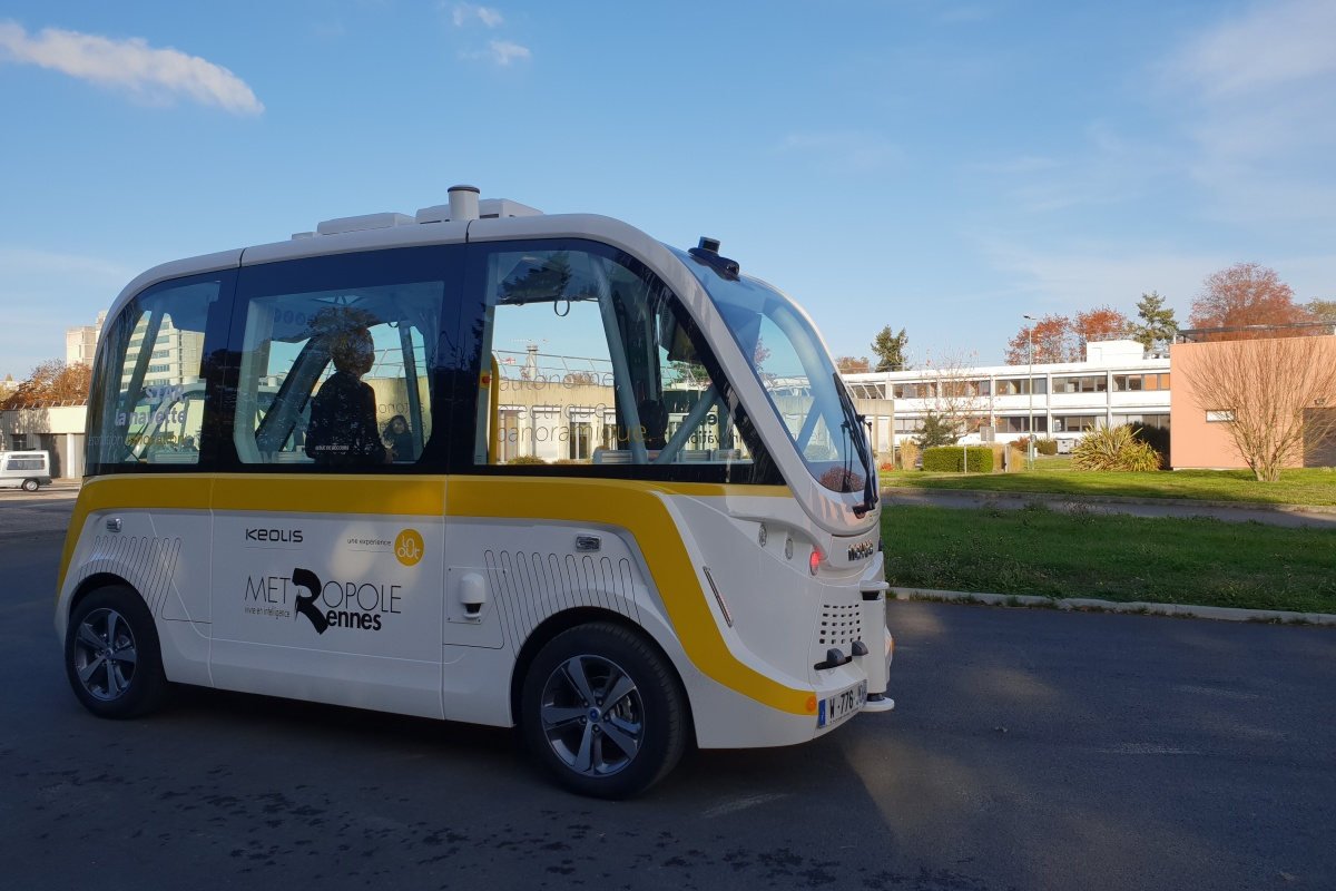 The Navya shuttles are integrated into the public transport system, operated by Keolis