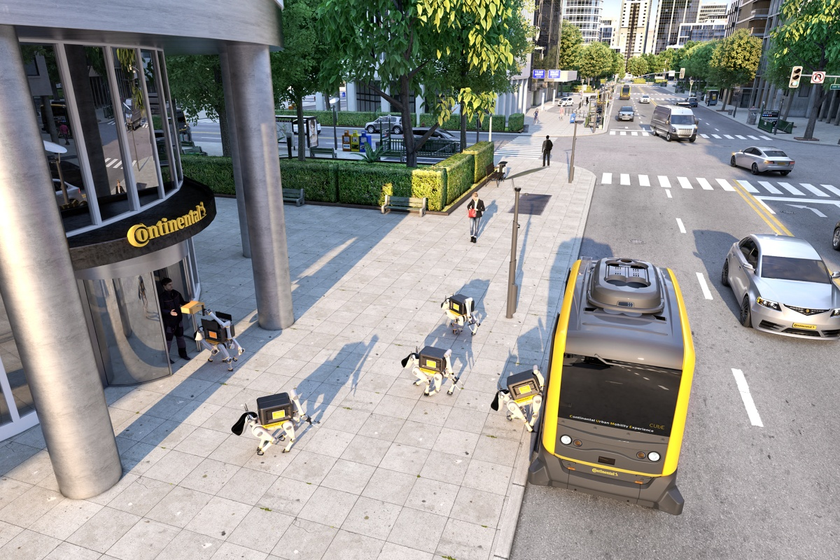 Continental's robodogs are deployed for delivery to consumers