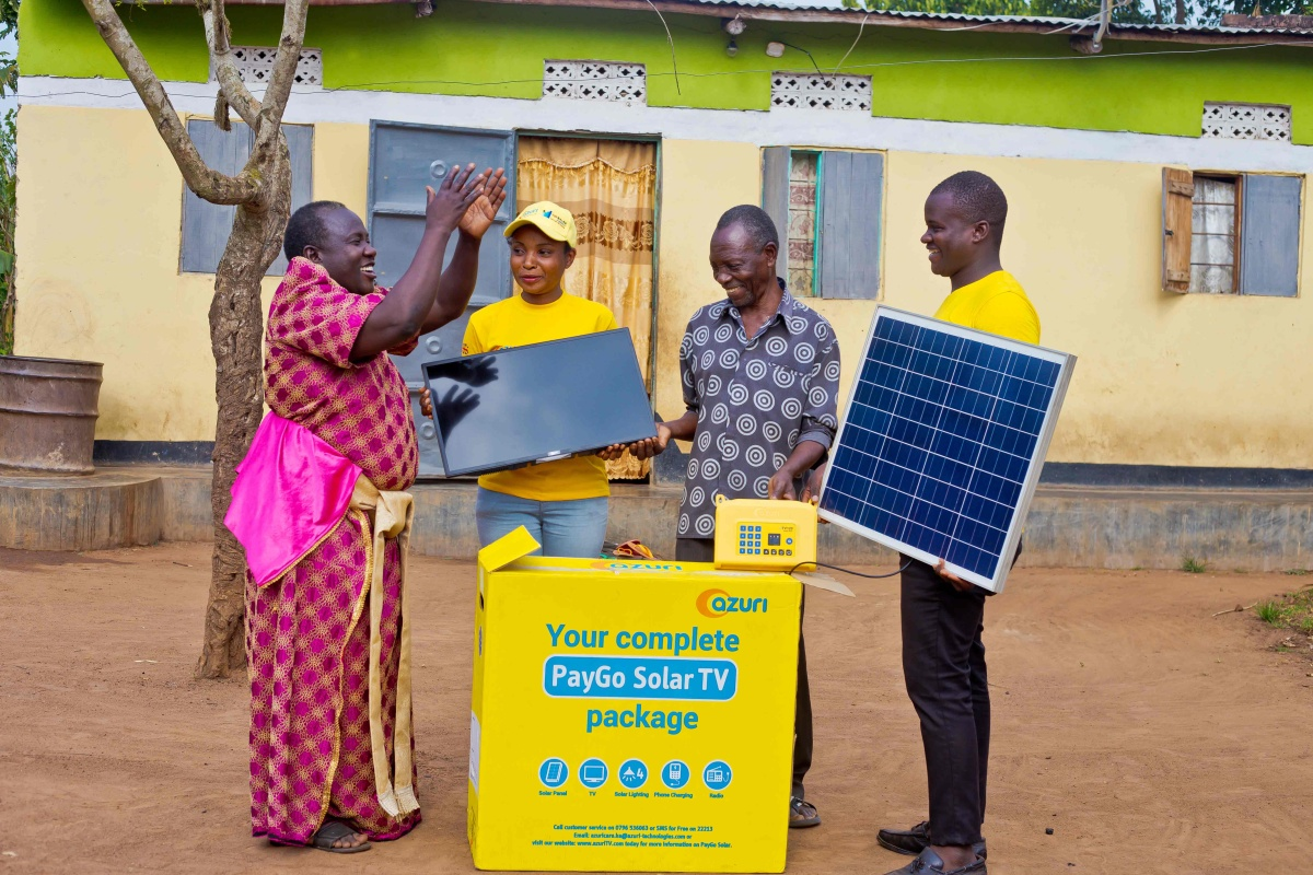 Azuri and FirstBank will co-brand and co-market the solar home TV product