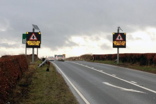 Vehicle detection technology reduces collisions at Scottish junction