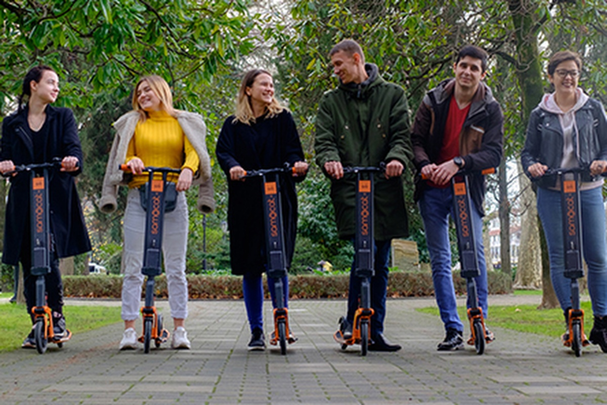 300 scooters will be rolled out in the Vuosaari pilot. Photo: Samocat
