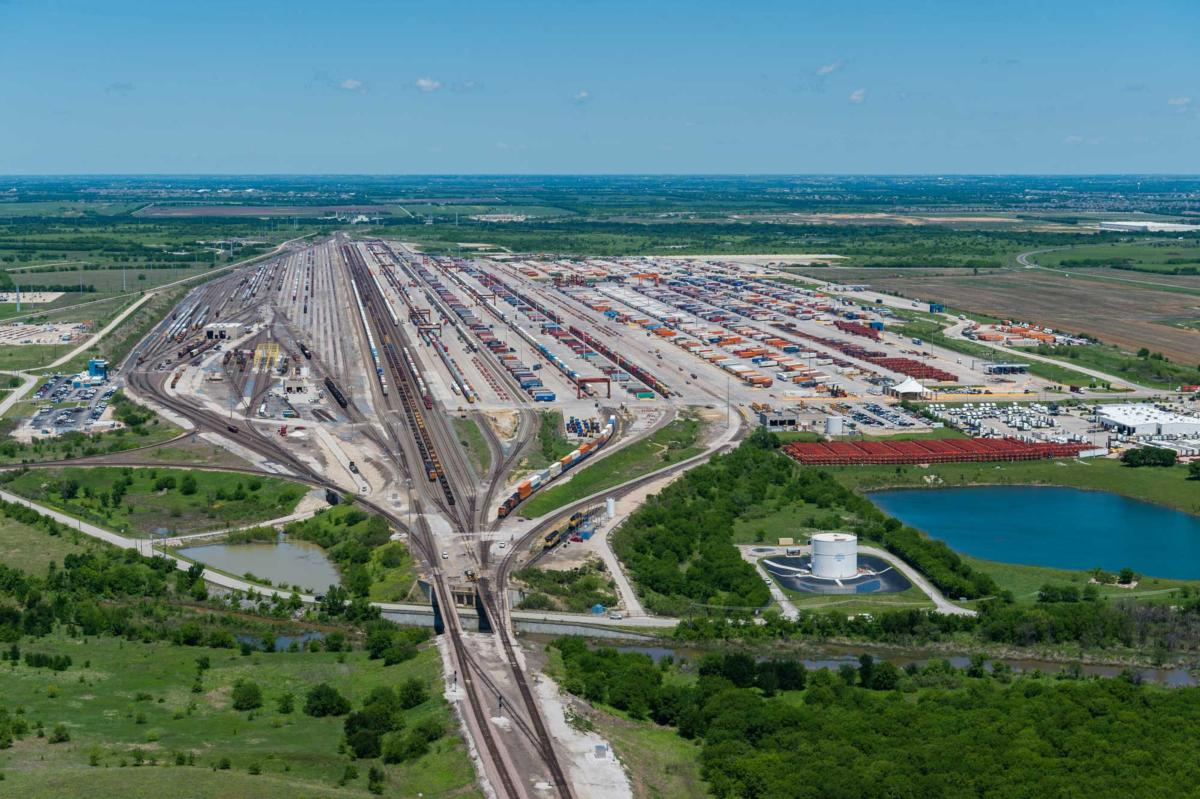 The intermodal rail facility on the innovation zone