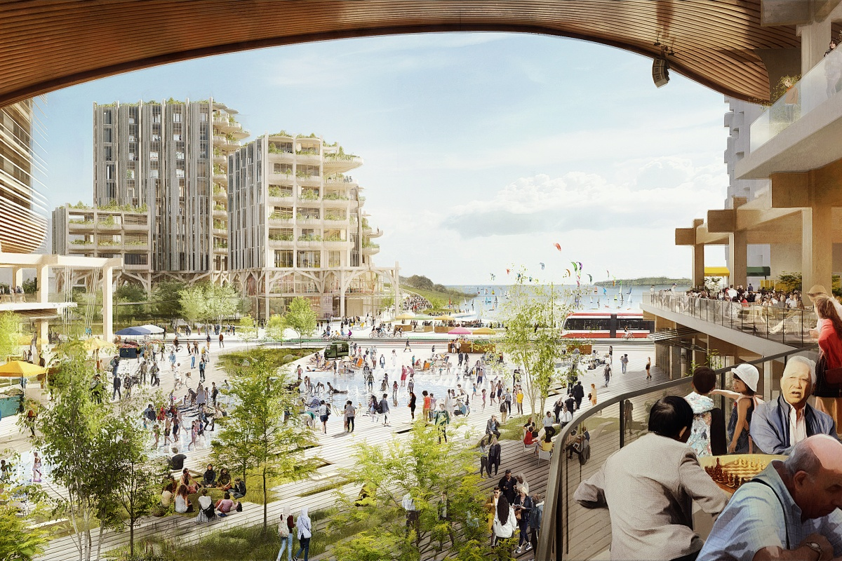 Artist's impression of the Waterfront Toronto development