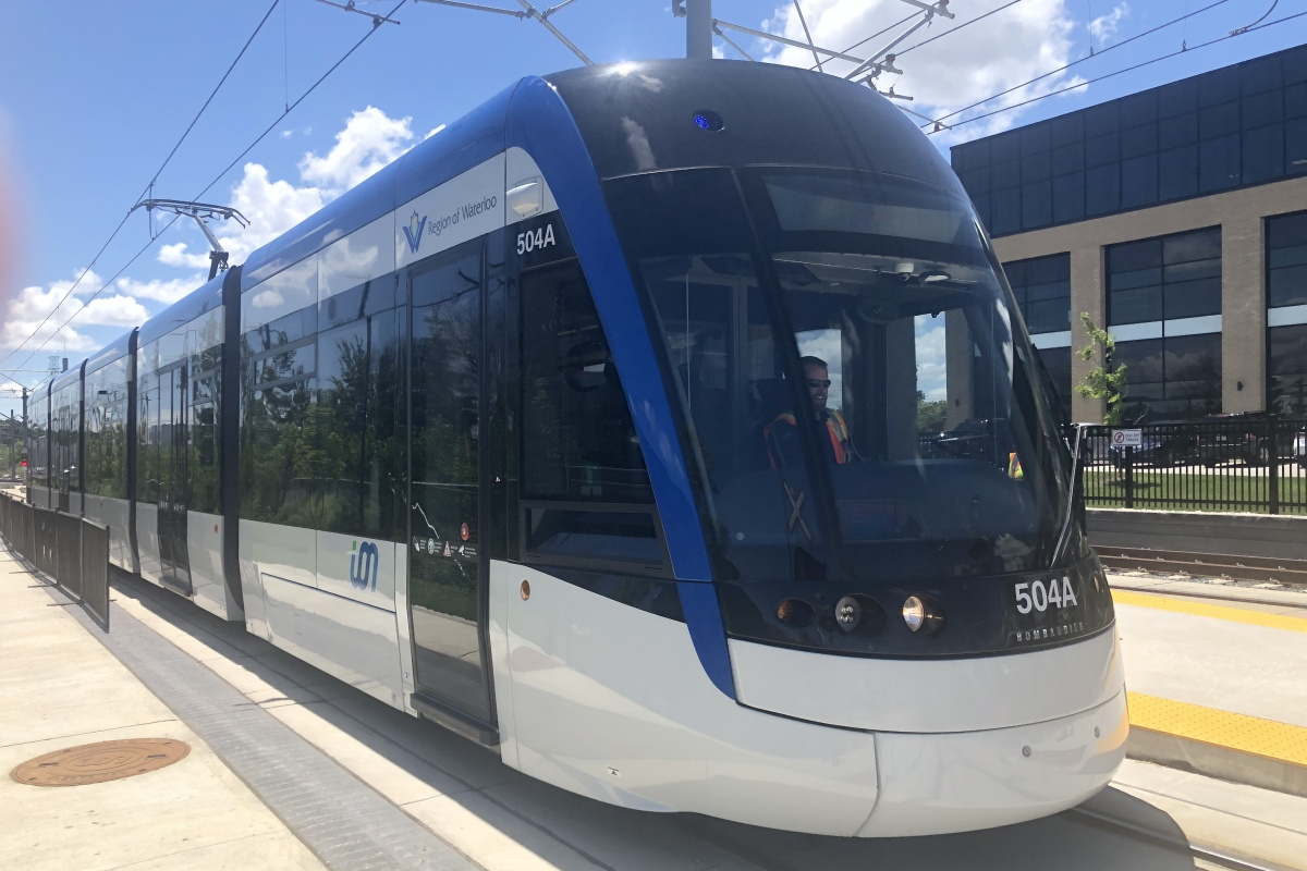 The light rail is designed to increase the attractiveness of Canada's Technological Triangle