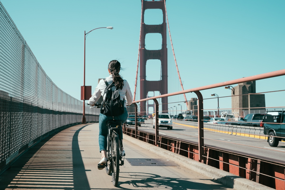 Since 2006, cycling in San Francisco has almost tripled