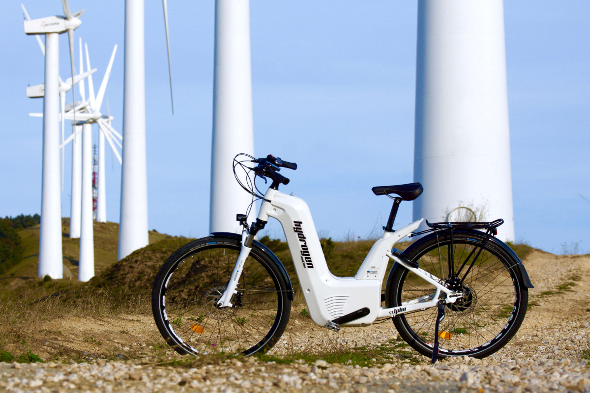 The range of the hydrogen Alpha bike has been extended by 50 per cent