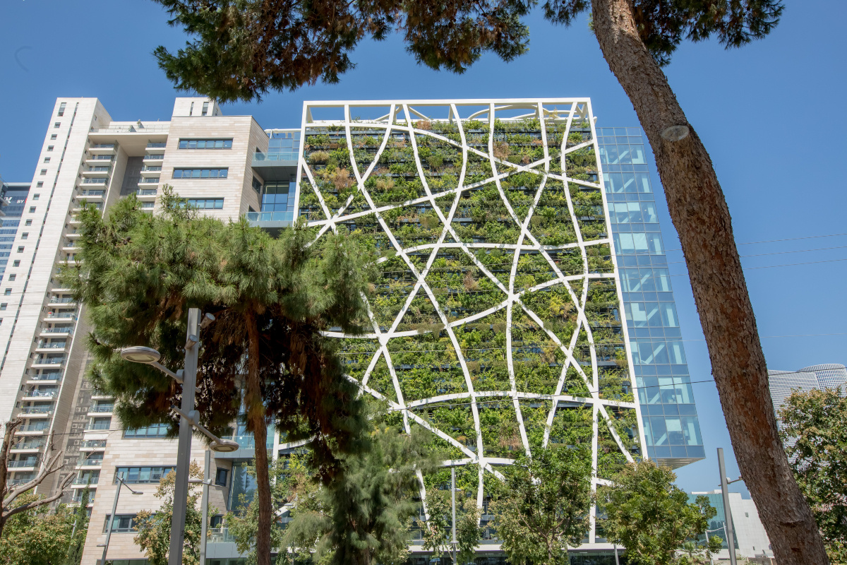 Vertical Field's living wall for Check Point, a software security firm in Bitzaron, Tel Aviv
