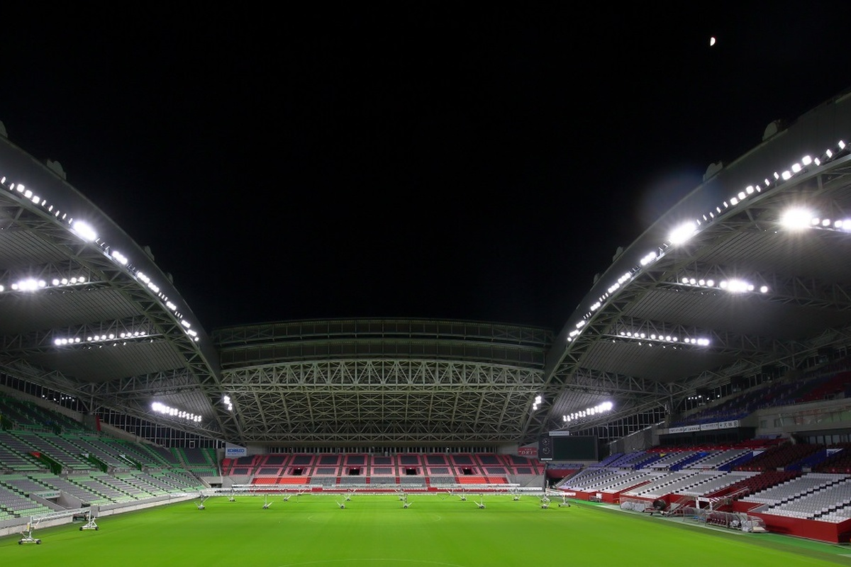 The Kobe Misaki stadium, one of the stadiums used for the Rugby World Cup 2019