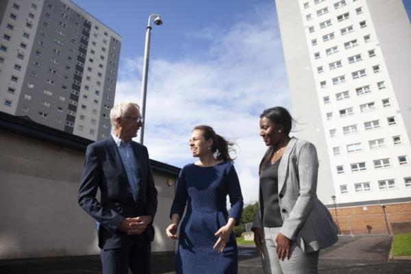 Glasgow unveils high-tech tower blocks