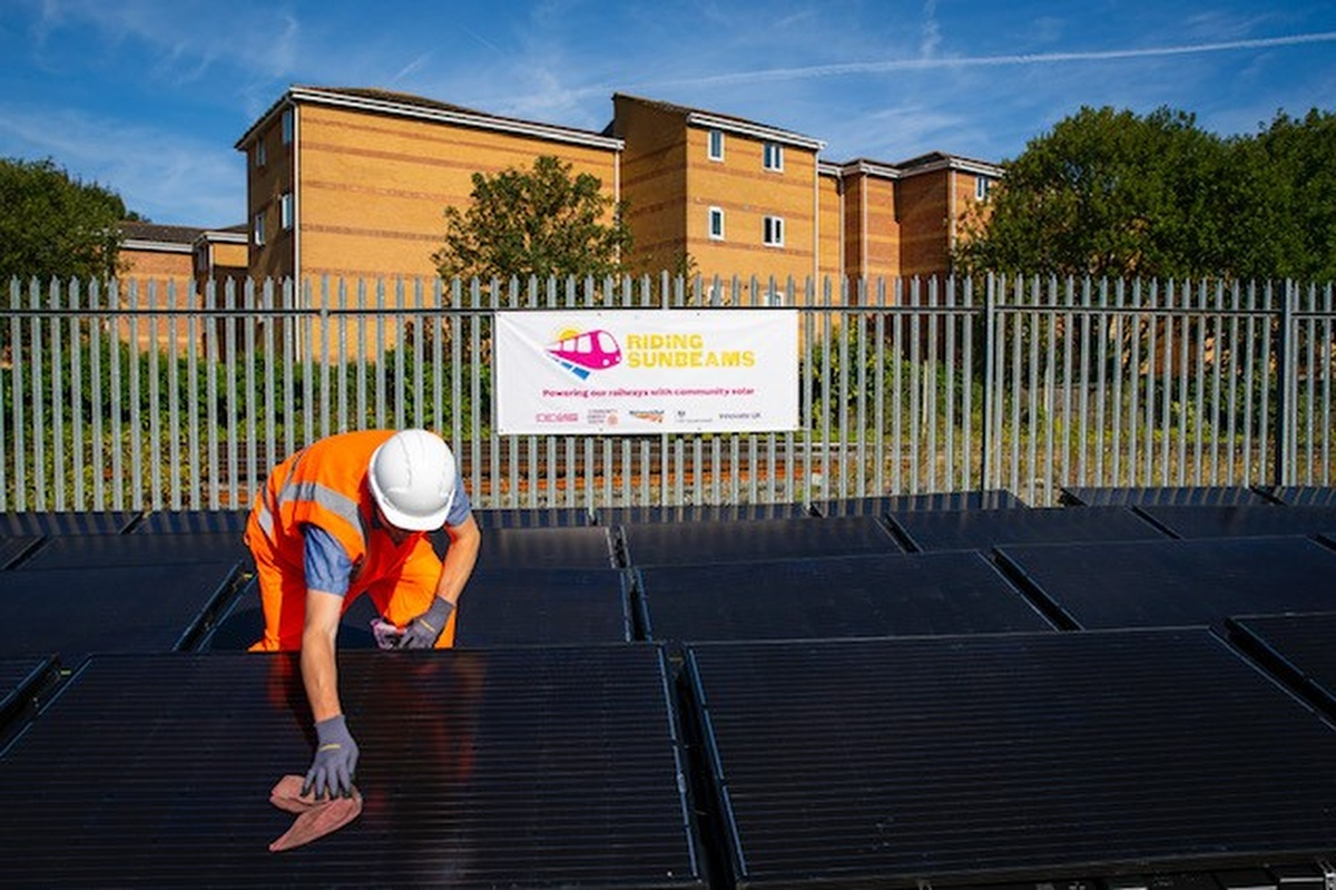 The solar rig is connected to the railway line in Aldershot