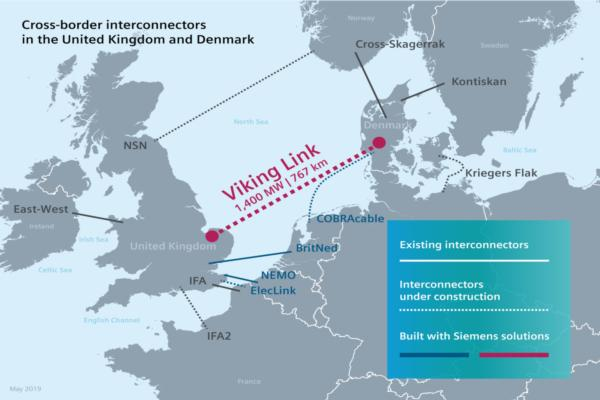 HVDC cable to facilitate energy exchange between UK and Denmark