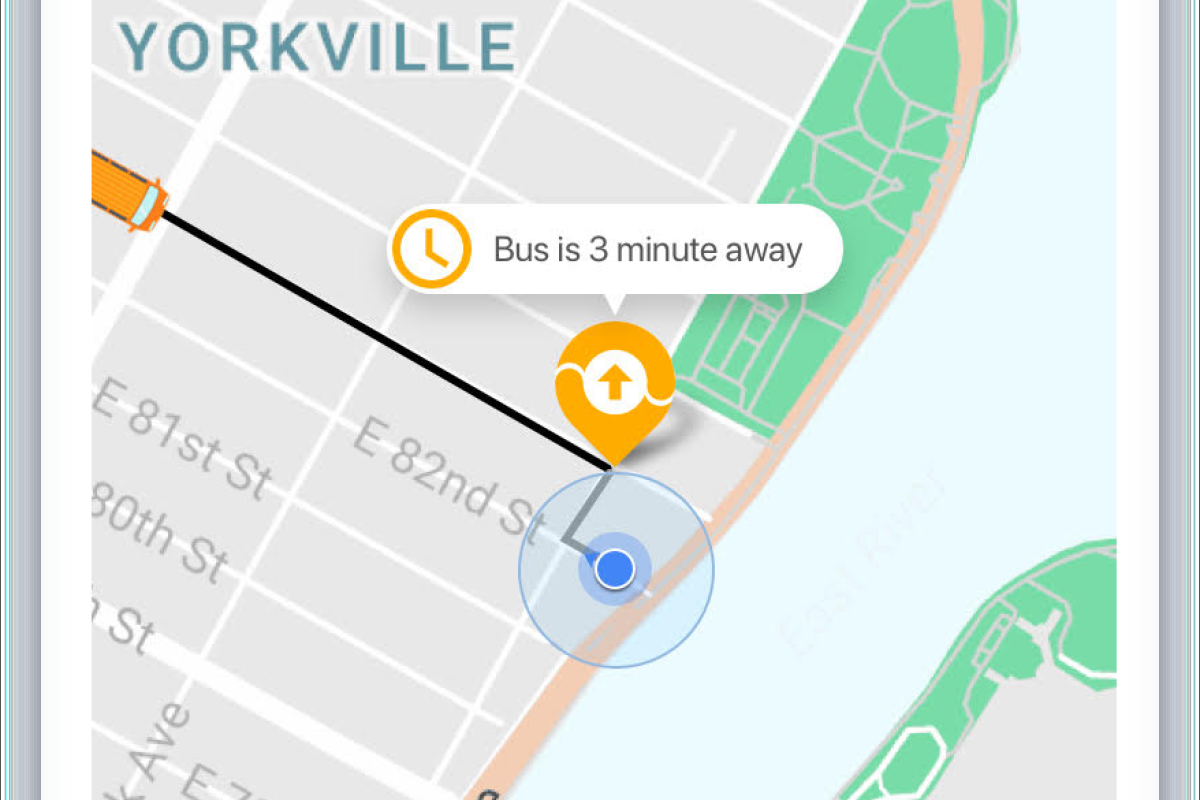 Users can track their bus in real-time using the Via technology