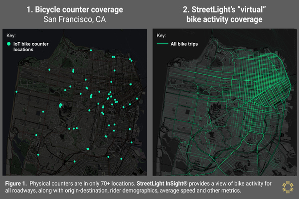 StreetLight Data launches standalone bike and pedestrian analytics tool