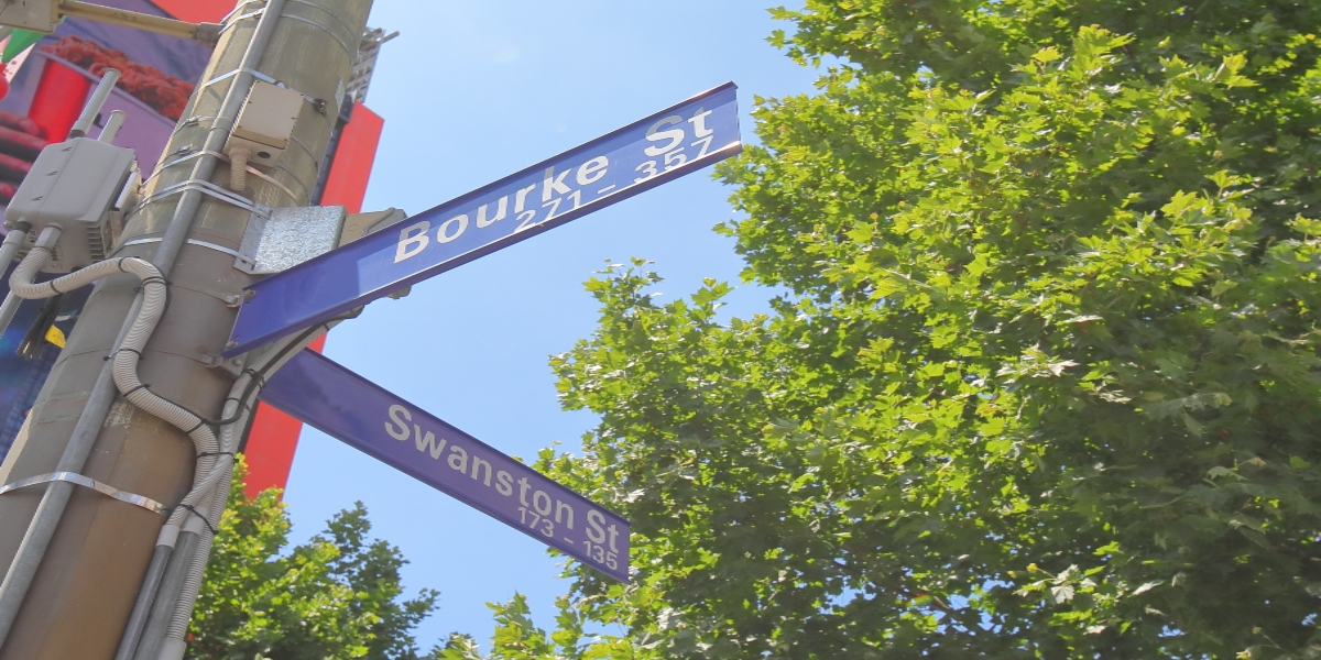 The beacons are now located along Bourke and Swanston streets in Melbourne