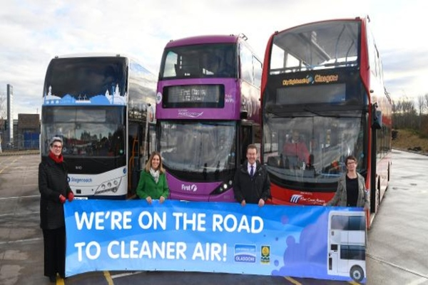 Glasgow increases proportion of low-emission bus journeys