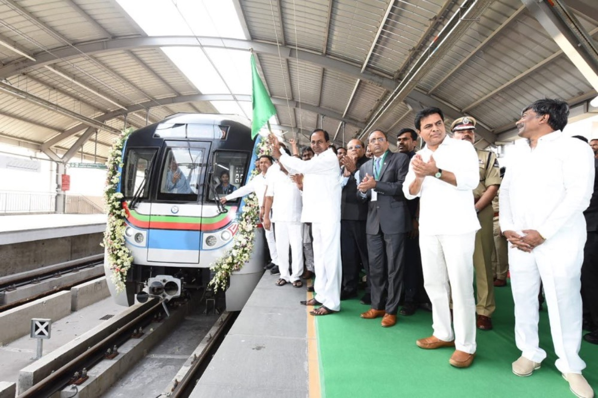 The opening of the new 11km long section in Hyderabad