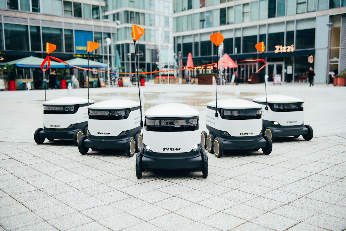 Robot deliveries roll out in Milton Keynes' centre