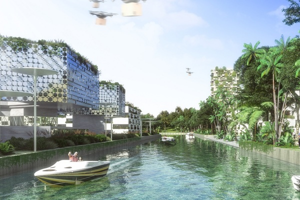 Outdoor offices, millions of plants and super canals: First look at plans for Smart Forest City Cancun