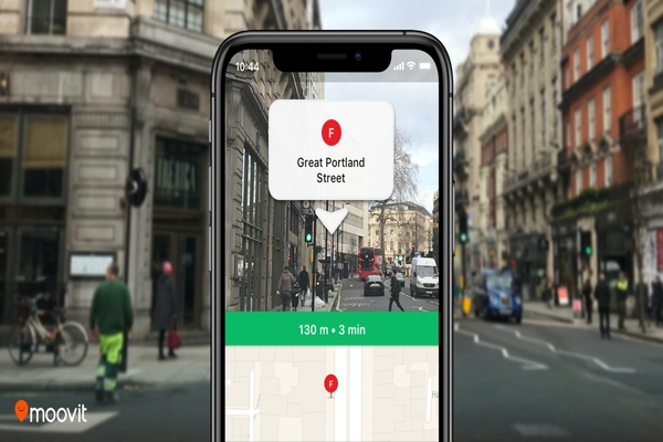 Moovit uses augmented reality for better public transit navigation