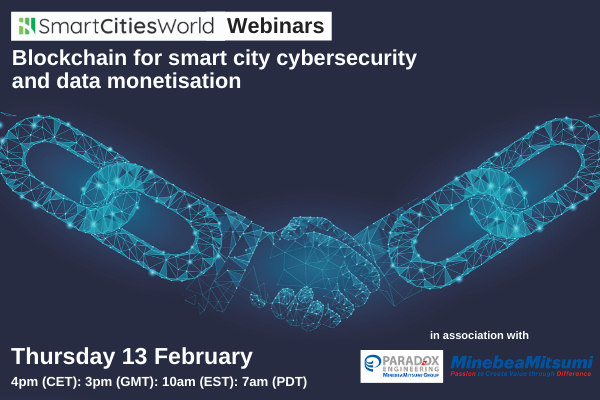 WEBINAR: Blockchain for smart city cybersecurity and data monetisation