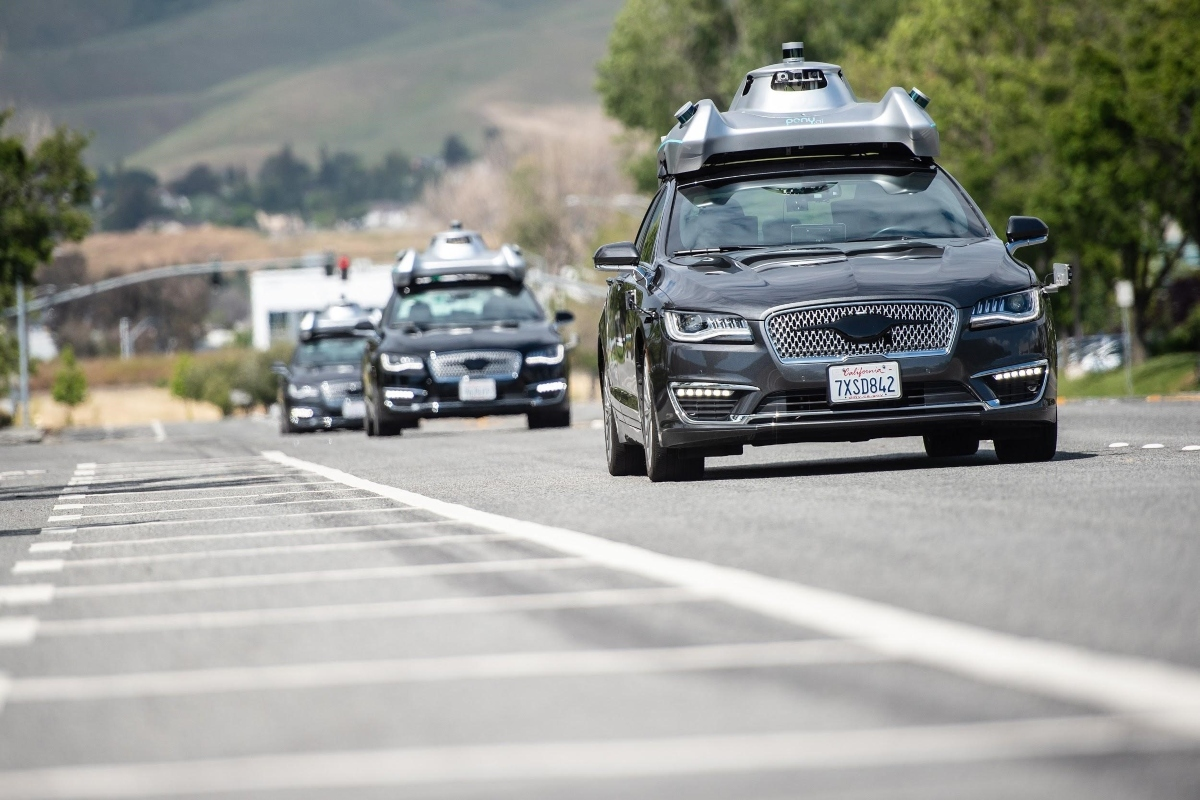 Pony.ai vehicles provide a shared, on-demand last-mile service for Fremont employees