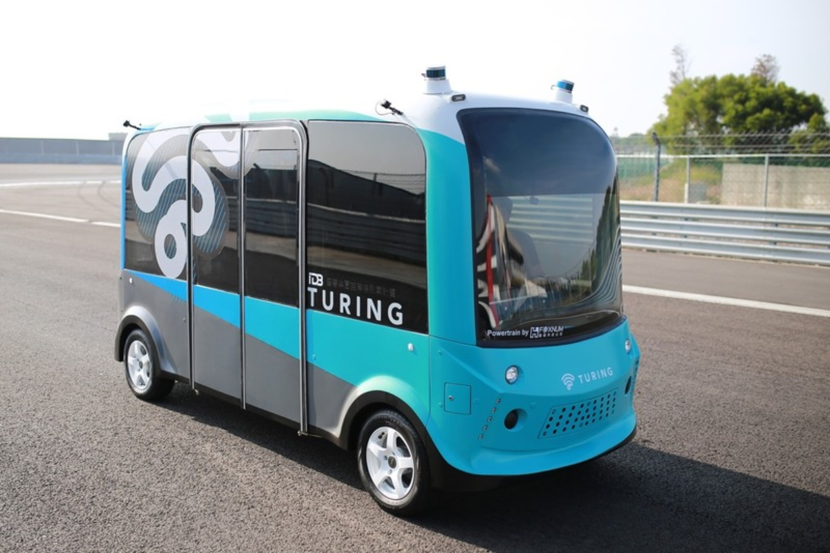 The 4m shuttle from Turing Drive which has capacity for nine passengers