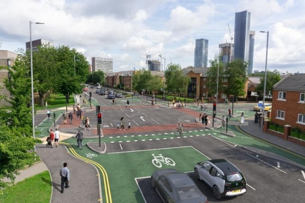 Manchester's 'Cyclops' junction reaches major milestone