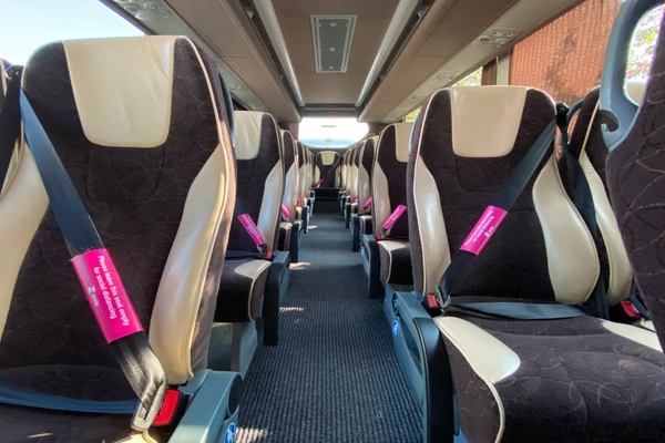 Coach operator helps customers to social distance while travelling