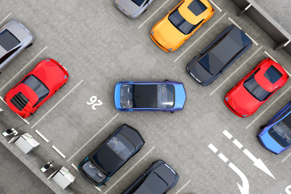 Smart parking technology can provide real-time information on available parking lots