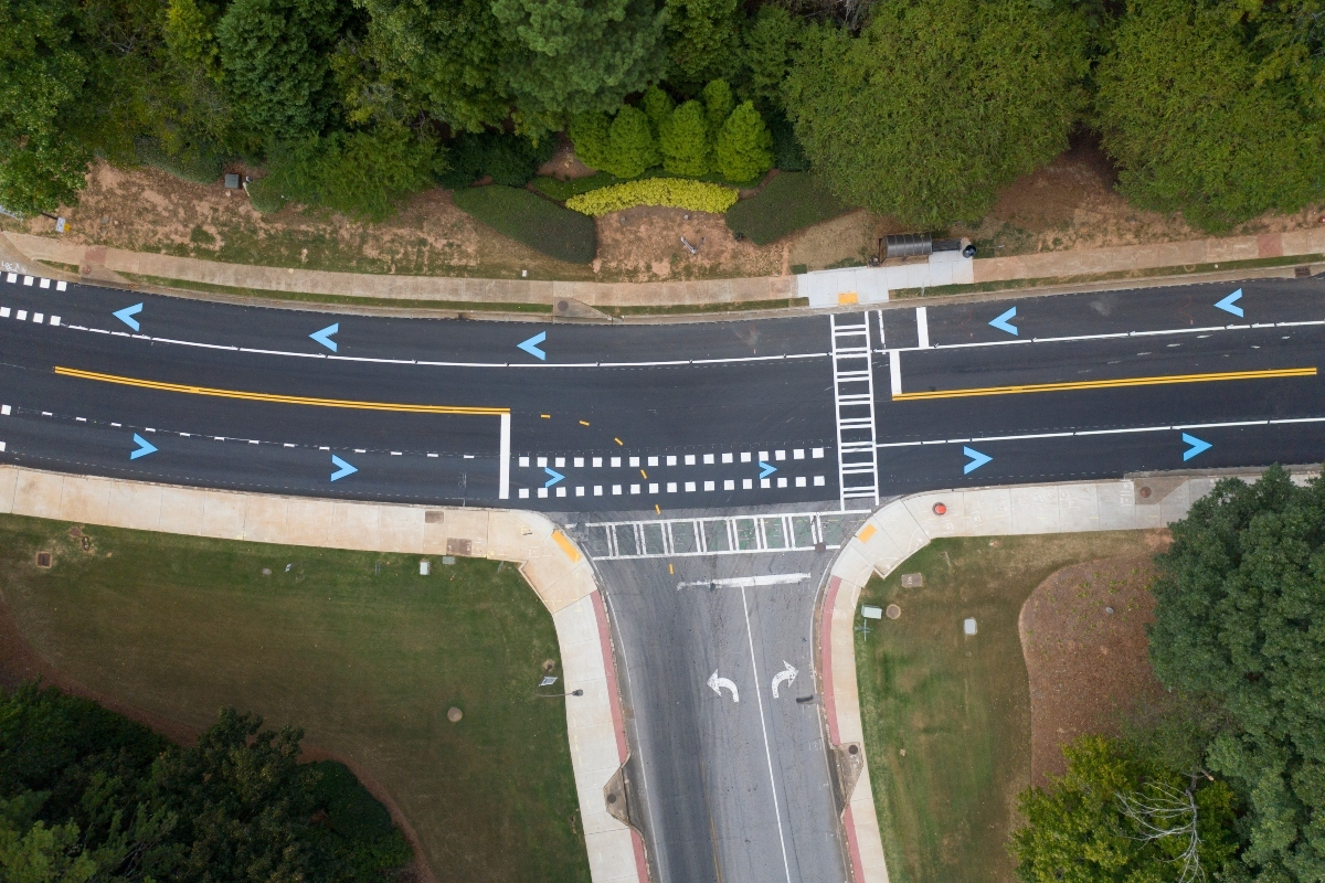 The autonomous vehicle test track at Peachtree Corners